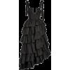 ULLA JOHNSON black ruffle satin gown - Dresses -
