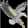 Серебряная брошь UNISEX Орлан - Other jewelry - $89.21