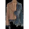 UNRAVEL PROJECT mixed fabric ruffle deni - Jacket - coats - $1.69  ~ £1.28