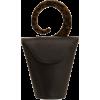 USISI Consti Veg Tan Leather Clutch Bag - Clutch bags - $415.00