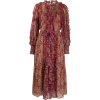 Ulla Johnson Claret pleated patchwork dr - sukienki -
