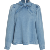 Ulla Johnson Wes Denim Blouse - Long sleeves shirts - $265.00