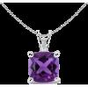 V-Bale Amethyst Pendant - Necklaces - $329.00