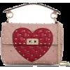 VALENTINO Rockstud Heart Shoulder Bag - Hand bag -