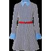 VALENTINOBelted poplin-trimmed printed w - Dresses -
