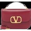 VALENTINO GARAVANI,Small leather shoulde - Borse con fibbia -