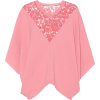 VALENTINO Lace-trimmed cape sweater - Cardigan -
