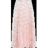 VALENTINO Pleated silk midi skirt - Suknje -