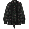 VALENTINOPussy-bow lace-trimmed floral-p - 長袖シャツ・ブラウス -