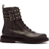 VALENTINO Rockstud ankle-buckle leather - Boots -