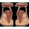 VALENTINO Rockstud double-strap leather - Sandalen -