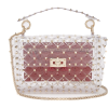 VALENTINO  Rockstud quilted-PVC shoulder - Clutch bags -