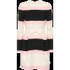VALENTINO Wool and silk striped dress - Vestidos -