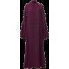 VALENTINO burgundy purple silk dress - sukienki -