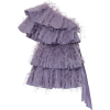 VALENTINO purple feathered mini dress - Dresses -