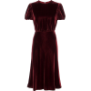 VALENTINO red bordeaux velvet - Dresses -