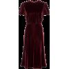 VALENTINO red bordeaux velvet - ワンピース・ドレス -