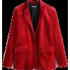 VELVET 2PC BLAZER AND PANTS SET (2 COLOR - Suits - $67.97