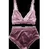 VELVET UNDERWEAR SET - Underwear -