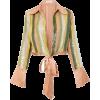 VERANDAH, stripe tie blouse - Koszule - krótkie -
