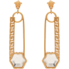 VERSACE  Crystal-embellished safety pin - Earrings -