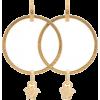 VERSACE gold metallic medusa hoop earrin - Earrings -