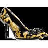 VERSACE zwarte gele en witte bardon 95 l - Classic shoes & Pumps -