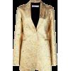VICTORIA BECKHAM metallic fitted blazer - Jacket - coats -