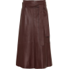 VINCE Leather midi skirt - Röcke -