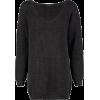 V NECK JUMPER MINI DRESS - CHARCOAL - Dresses - £18.00  ~ $23.68