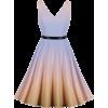 V Neck Waist Strap Sleeveless Pleated - Vestidos -