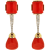 Valentin Magro Coral Drop Earrings - Earrings -