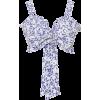 Valentina Tie Front Cotton Bra Top - Vestiti -