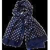 Valentino Navy/Blue Polka Dot Scarf - Szaliki - $169.88  ~ 145.91€