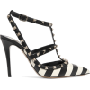 Valentino The Rockstud striped pumps - Sandals -
