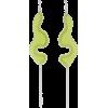 Vanessa Schindler Green Single Chain Ear - Earrings -
