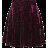Velvet Flippy Skirt - Camisa - curtas -