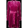 Velvet Pink Dress - Dresses -
