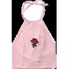 Velvet Rose Embroidered Velvet Vest Slin - Tanks - $23.00  ~ £17.48