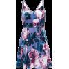 Velvet Strappy Skater Dress LOVE, NICKIE - Haljine -