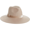 Velvet Trim Felted Wool Panama Hat RACHE - ハット -