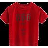 Velvet crew neck t-shirt - Shirts - $19.99