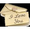 I love you - Predmeti -
