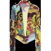 Versace Plunging Satin Collared Bodysuit - 長袖シャツ・ブラウス -