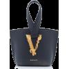 Versace Tribute Leather Loop Top Handle - Torbice -