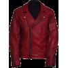 Versatile Men's Biker Vintage Red Leather Jacket - Jacken und Mäntel -
