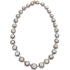 Victorian Diamond and Pearl Necklace - Necklaces -