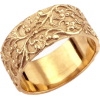 Victorian ring leaf pattern Etsy - Rings -