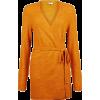 Vila Yellow Bleted Knit Cardigan - Puloverji -