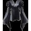 Vintage Black Sleeve Blouse - Long sleeves shirts -